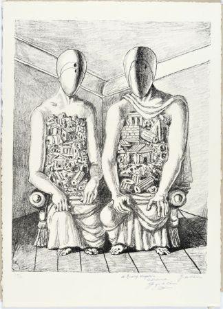 Литография De Chirico - Gli Archeologi V