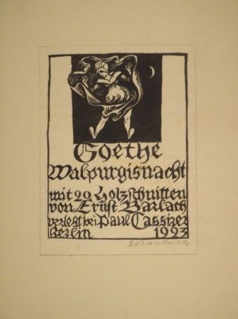 Гравюра На Дереве Barlach - Goethe, J. W. Von. Walpurgisnacht.