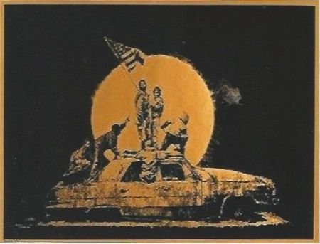 Сериграфия Banksy - Gold Flag