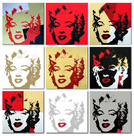 Сериграфия Warhol (After) - Golden Marilyn Monroe collection a set of 10