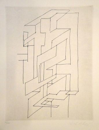 Гравюра Vasarely - Gordes gestalt