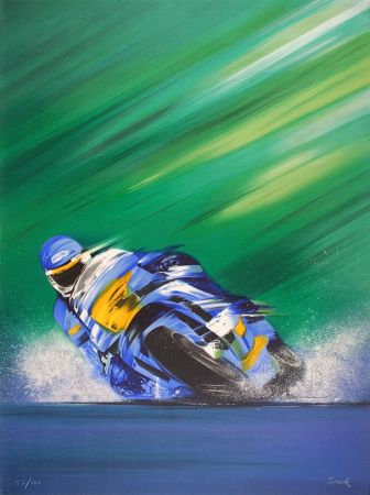 Литография Spahn - Grand prix de Moto