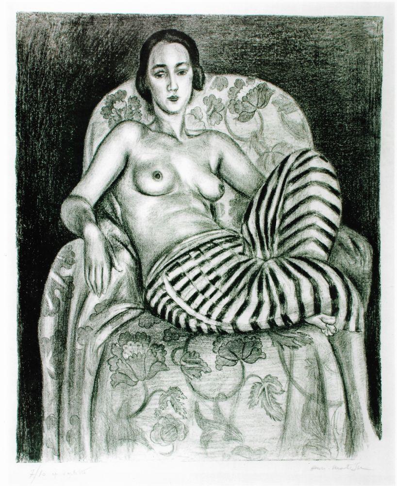 Литография Matisse - Grande odalisque à la culotte bayadère