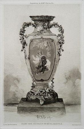 Офорт И Аквитанта Buhot - Grande vase décoratif
