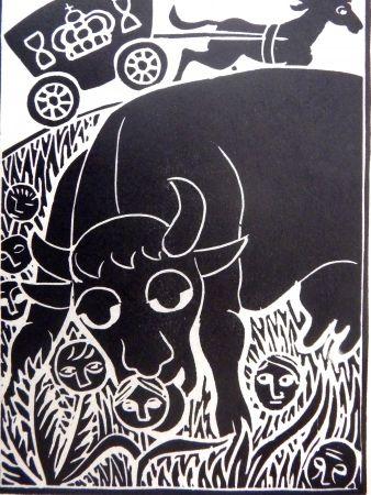 Линогравюра Heerup - Grass II