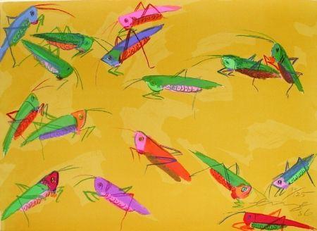 Литография Ting - Grasshoppers
