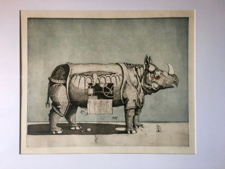 Акватинта Meckseper - Gravure Aquatinte. Friedrich Meckseper