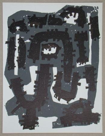 Литография Ubac - Gravure sur ardoise pour XXe Siècle