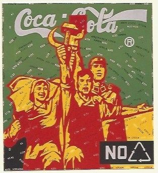 Литография Guangyi - Great criticism - Coca Cola