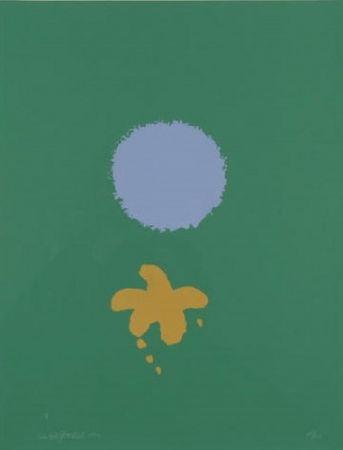 Многоэкземплярное Произведение Gottlieb - Green Ground Blue Disc