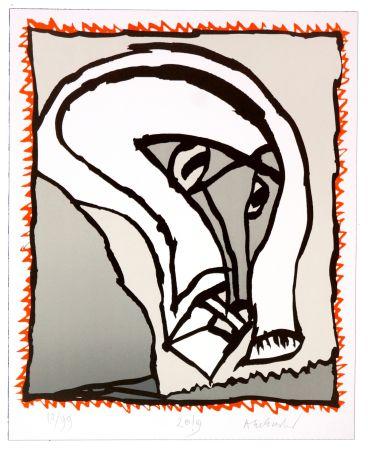 Литография Alechinsky - Griserie à minuit II