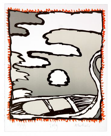 Литография Alechinsky - Griserie à minuit V