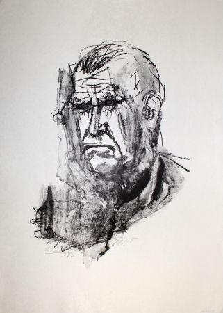 Литография Dix - Grosses Selbstbildnis / Large Self-Portrait