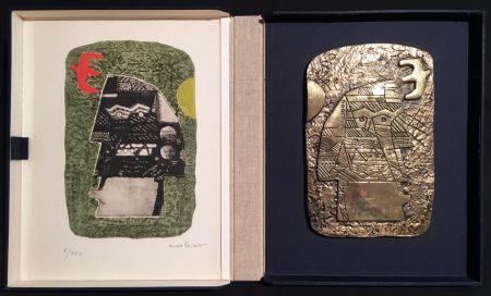 Многоэкземплярное Произведение Papart - GUERRIER. Un eau-forte signée et un bronze (1977).