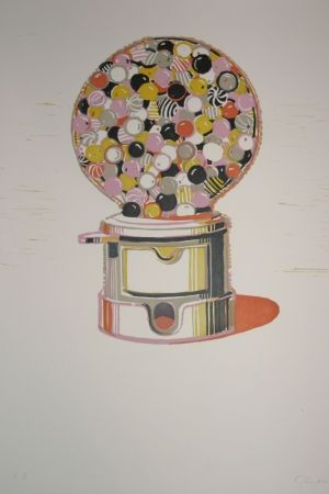 Линогравюра Thiebaud - Gumball Machine