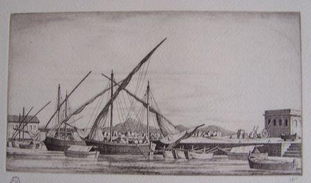 Гравюра Strang - Harbour Scene, Syracuse