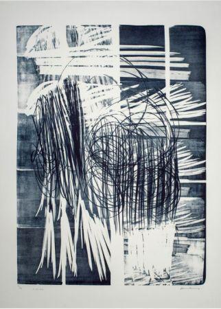 Нет Никаких Технических Hartung - Hartung Hans (1904-1989)  L-16B-1974  Lithographie en noir