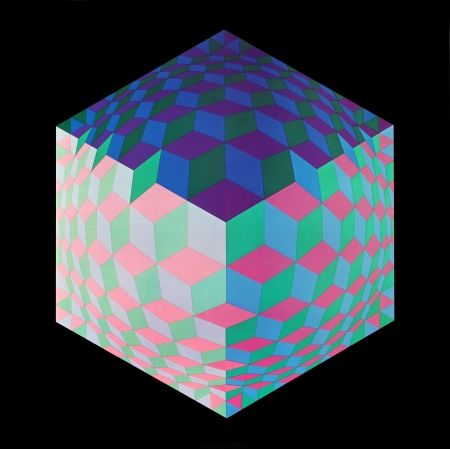Гашение Vasarely - Hat- Leg, 1971