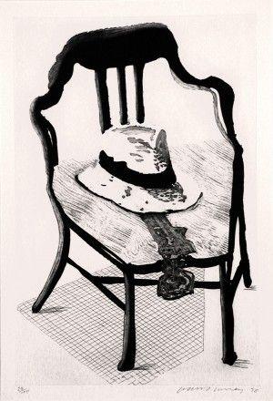 Офорт И Аквитанта Hockney - Hat On Chair, From Geldzahler Portfolio