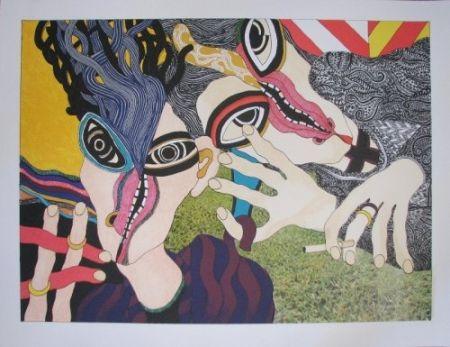 Литография Tola - Hay mujer, un animal callado que tú aún no conoces