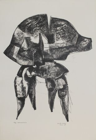 Литография Hadzi - Helmet Series
