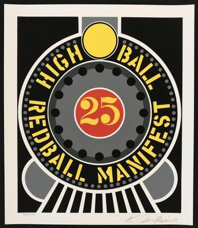 Сериграфия Indiana - Highball on Redball Manifest