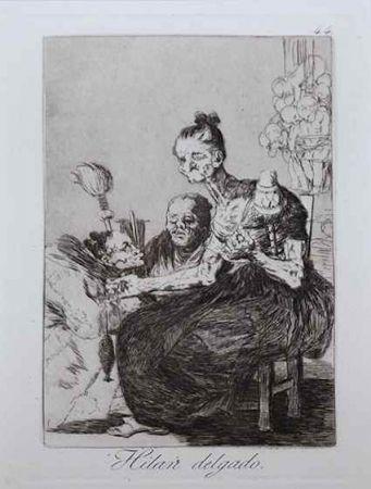 Офорт Goya - Hilan delgado