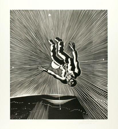 Гравюра На Дереве Mattheuer - Hin ist er (The Fall of Icarus)