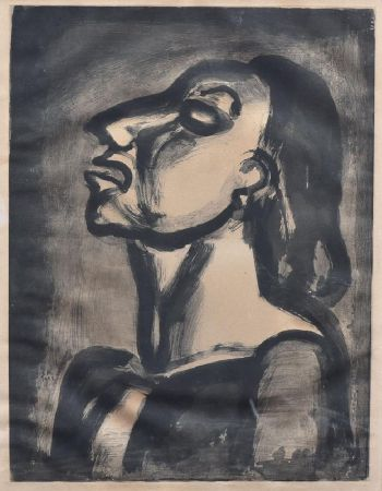 Акватинта Rouault - His Lawyer, In Hollow Phrases, Proclaims His Total Indifference