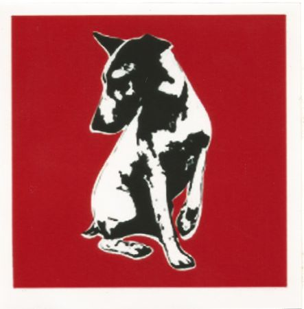 Сериграфия Blek Le Rat - His Master's Voiceless (Red)