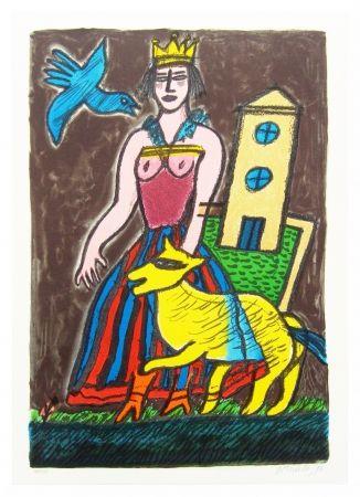 Литография Corneille - Histoire D'une Reine