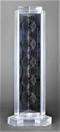 Многоэкземплярное Произведение Vasarely - HOLLD (Moire tower)