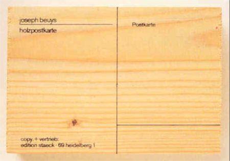 Сериграфия Beuys - Holzpostkarte