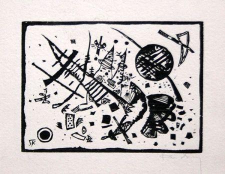 Гравюра На Дереве Kandinsky - Holzschnitt für die Ganymed-Mappe (from Der Dritten Ganymed-Mappe)