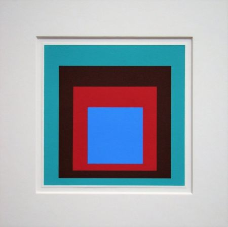 Сериграфия Albers - Homage to the Square - Protected Blue,1957