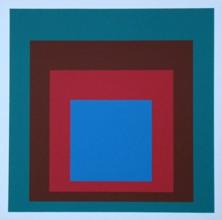 Сериграфия Albers - Homage to the Square - Protected Blue, 1957