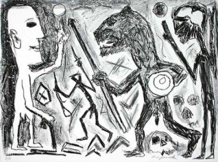 Литография Penck - Homer u. Aristoteles, 1 Blatt