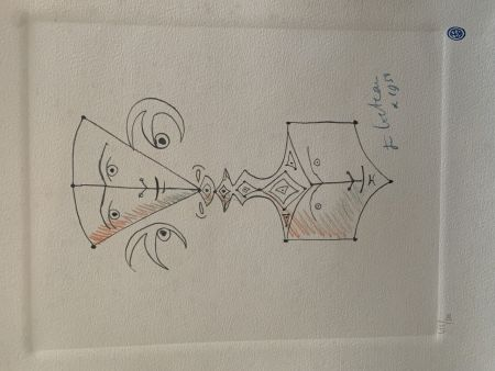 Литография Cocteau - Hommage