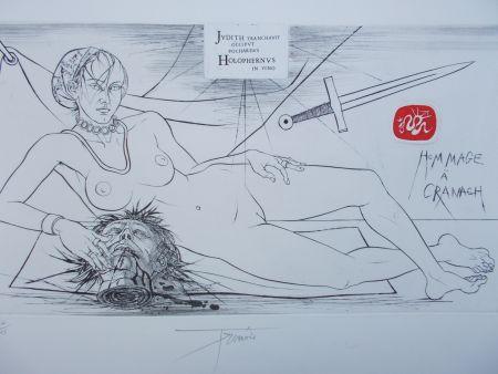 Гравюра Trémois - Hommage à Cranach