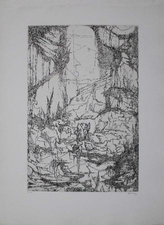 Гравюра Eliasberg - Hommage à Dürer (Phantasielandschaft für Dürer)