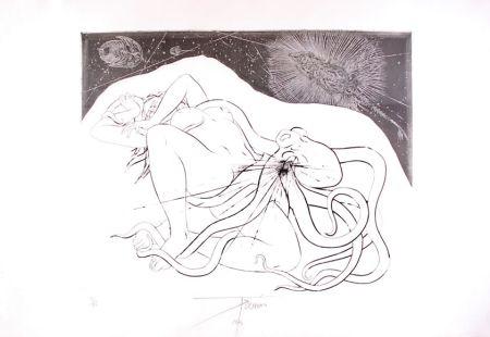 Офорт Trémois - Hommage à Hokusai