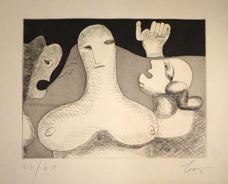 Гравюра Baj - Hommage à Le Corbusier