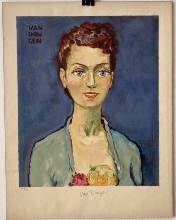 Литография Van Dongen - Hommage à Marie-Claire- Circa 1950