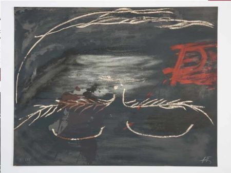 Литография Tàpies - Hommage à Picasso