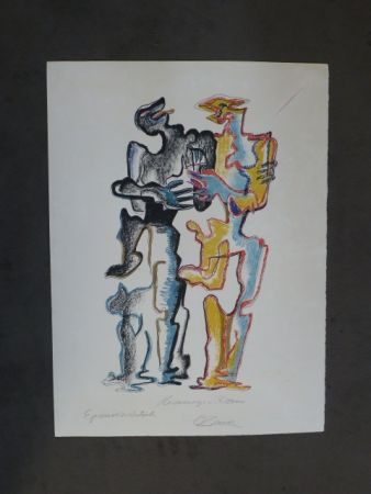 Литография Zadkine - Hommage à Rodin