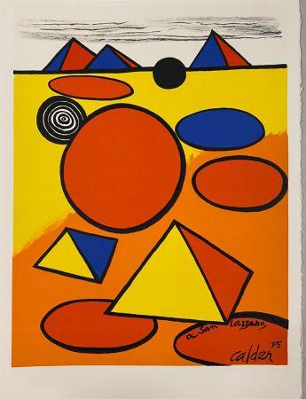 Литография Calder - Hommage à San Lazzaro
