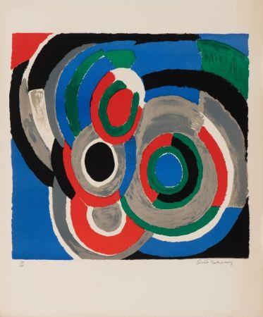 Литография Delaunay - Hommage à Stravinsky