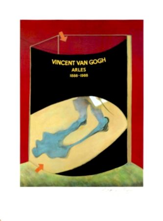 Литография Bacon - Hommage à Van Gogh