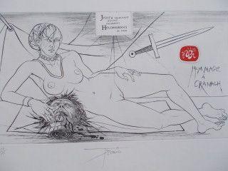 Гравюра Trémois - Hommage a Cranach