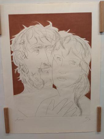 Литография Manzu - Hommage a Picasso
